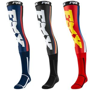 2019 Fox Racing Knee Brace Socks-Navy//Yellow-L