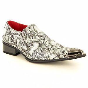 Herren Leder Gefüttert Krokodilleder metall zeh Winkle Pickers Schuhe in