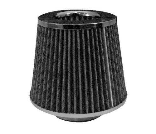 Performance High Flow Air Intake Cone Filter BLACK