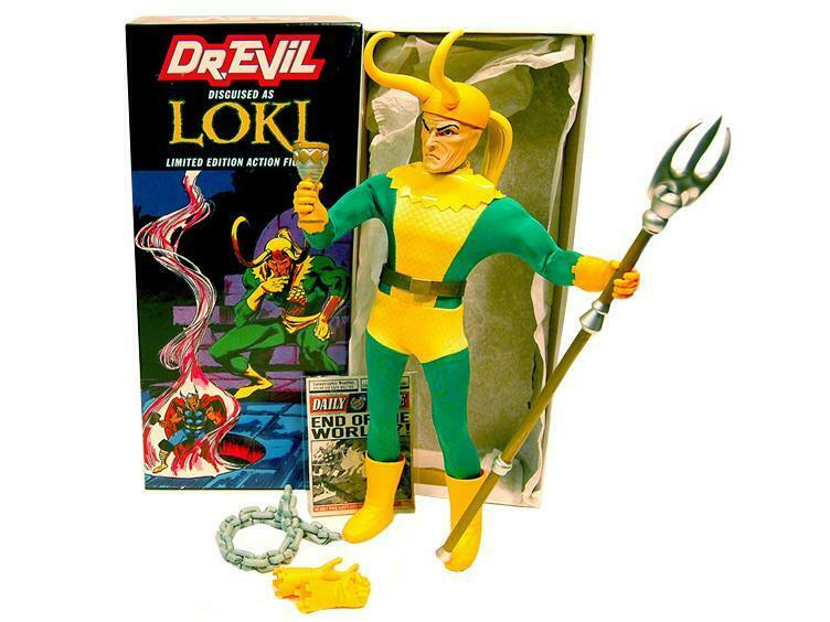 DR EVIL AS LOKI RARE RARE RARE LIMITED EDITION NYCC ACTION FIGURE CAPTAIN BRAND NEW IN BOX e912d2