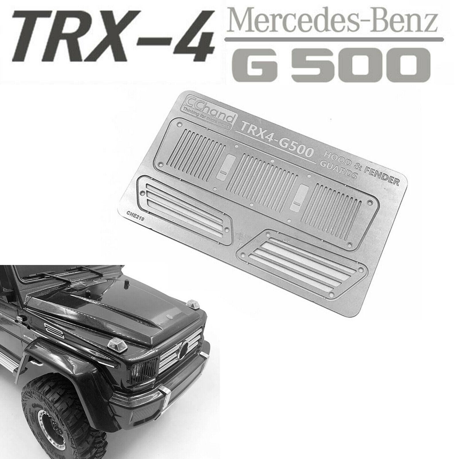 Für TRX-4 TRX-6 Benz 4X4 6X6 G63 G500 RC Auto Zubehör Metall Intake Grille Cover