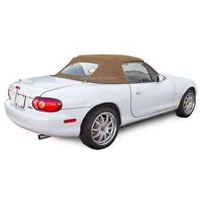 Miata Convertible Top Tan Stayfast Cloth With Non Zippered Glass Window Fits Mazda Miata