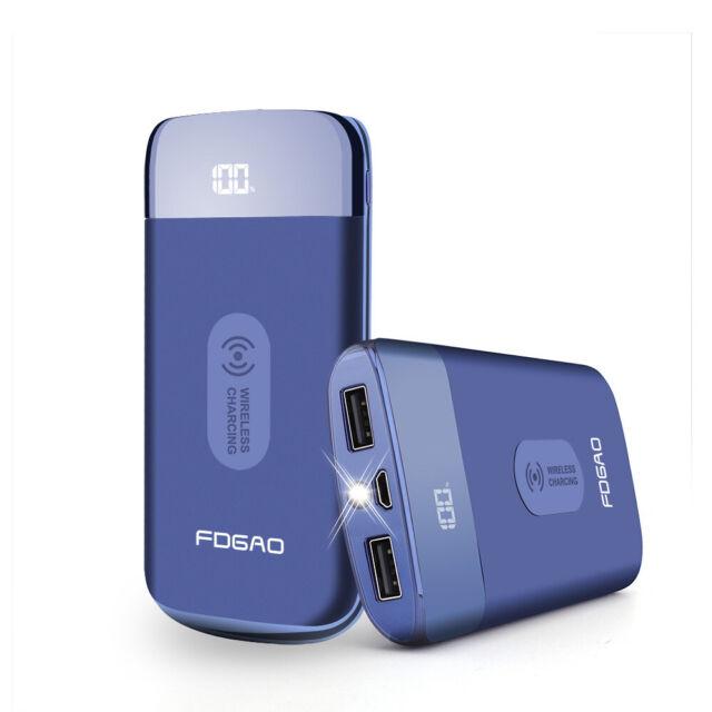 AU 20000mAh Power Bank Qi Wireless Charging For i Phone 8 X XS Samsung S10 S9 S8