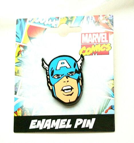 Marvel Comics Classic Captain America Enamel Pin New NOS MOC 2017 Lapel Hat
