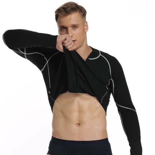 Men Sweat Neoprene Weight Loss Sauna Suit Workout Shirt Body Shaper Fitness Tops