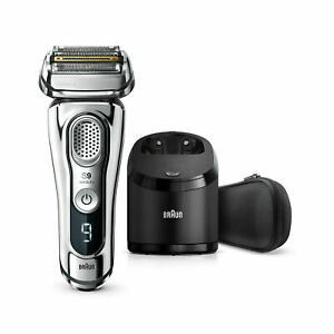 Braun 9376cc Wet & Dry shaver with Clean & Charge system and travel case, chrome