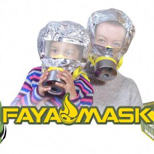 KIT-fayamask-scala-antincendio-firemask-Fumo-di-emergenza-Cappuccio-sopravvivenza-Pack