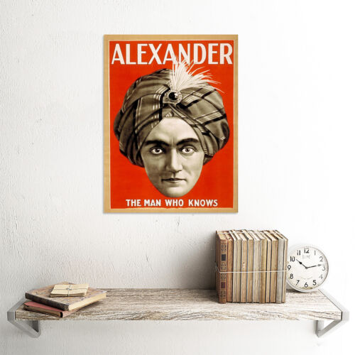 ALEXANDER THE MAGICIAN MAGIC VINTAGE ADVERTISING POSTER ART PRINT 498PY