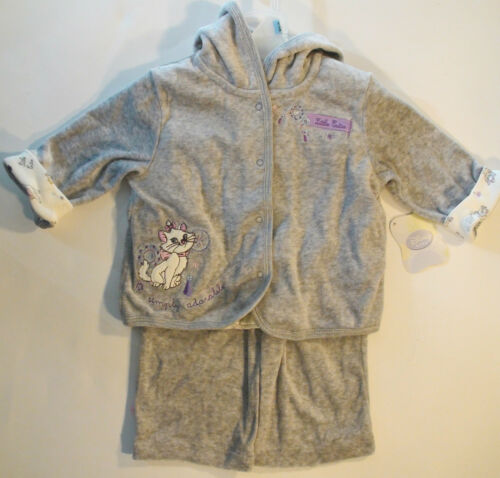 Baby Girls Disney Marie Aristocats Hooded 3 Piece Outfit Set Newborn0-33-6
