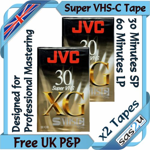 2 Jvc Xg 30 Min Super Vhs-c svhs-c compacta videocámara Video Cinta Cassette se-c30