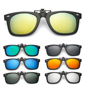 49166532b68 Men Women Polarized UV400 Lens Clip-on Flip-up Myopia Sunglasses ...