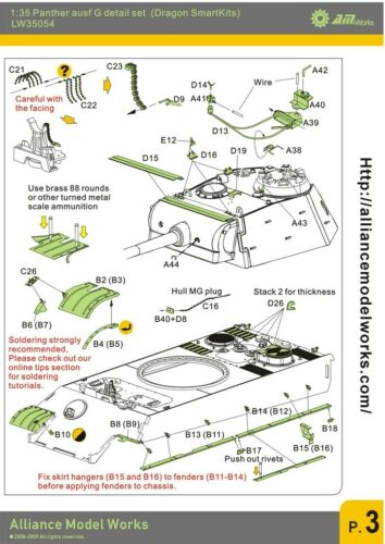 Alliance 1:35 Panther G Detail Set For Dragon Panther G Smart Kits LW35054