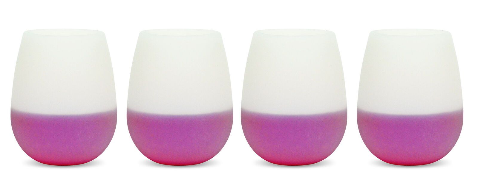 Camping Outdoors Pool Deck Party Silicone Vino Wine Glasses 4 Pack Tumbler 2go