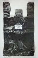 100 Qty. Black 11.5 X 6 X 21 Plastic T-shirt Bags W/ Handles Retail Shopping
