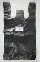 100 Qty. Black 11.5 X 6 X 21 Plastic T-shirt Bags W/ Handles Retail Shopping