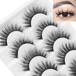de-cils-des-faux-cils-naturel-les-cheveux-doux-vison-3d-For-SKONHED-5-Pairs