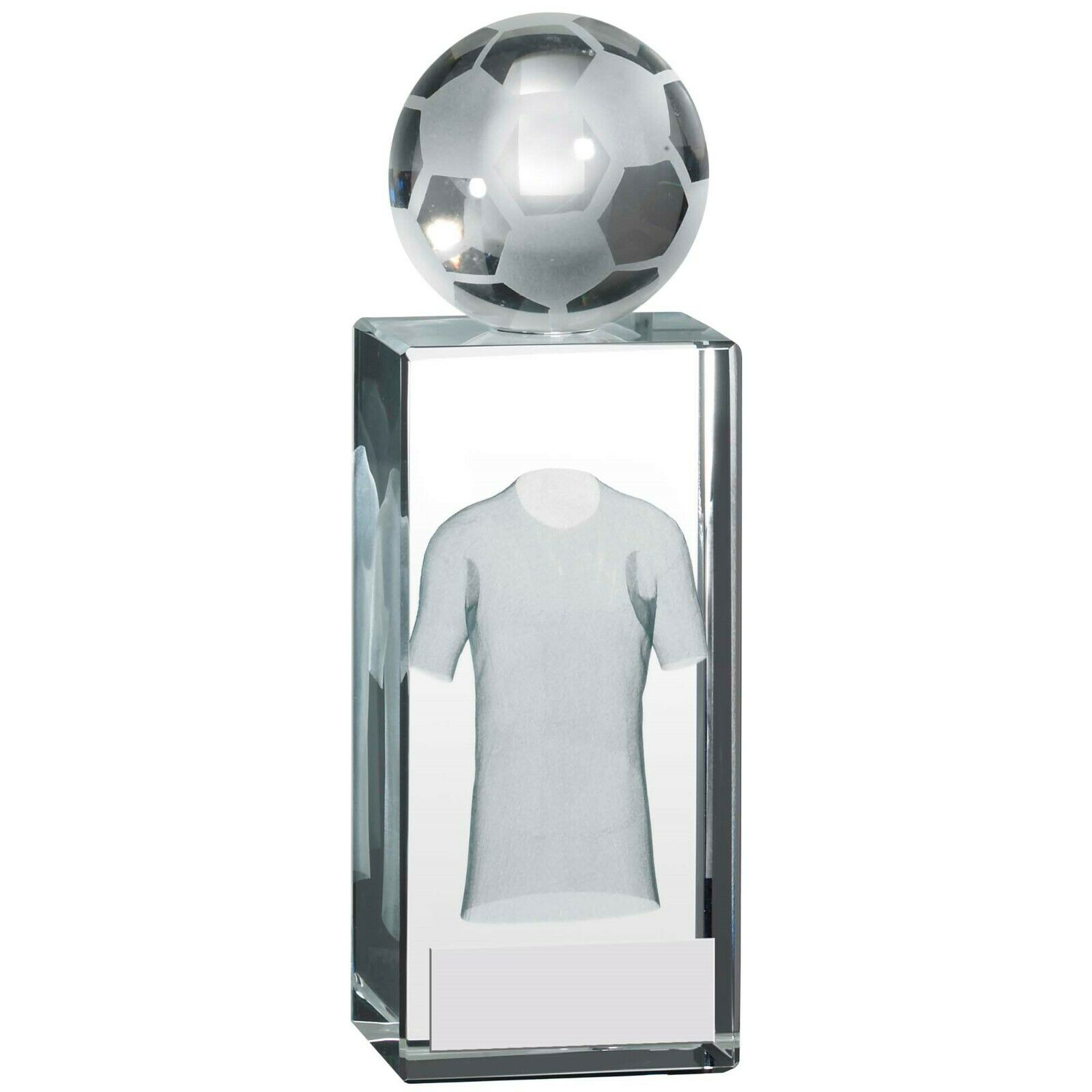 3073b575e3a75 Calcio Vetro Blocco Premio 3D Sfera Laser Immagine Maglietta Trofeo  nsjsod8437-Pokale