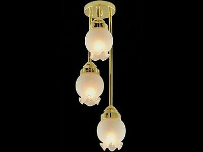 Dolls House Miniature 1//12th Scale Gold Hedgehog Ceiling Light SBLED310