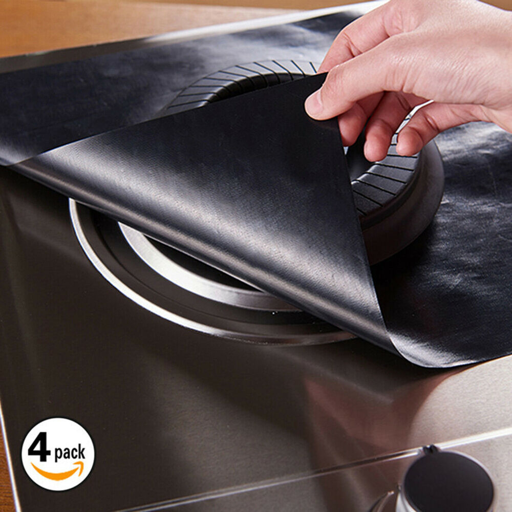 Cy_ 1Pc Reusable Gas Stove top Burner Protector- Burner Cover Kitchen Cleaning P Home & Garden