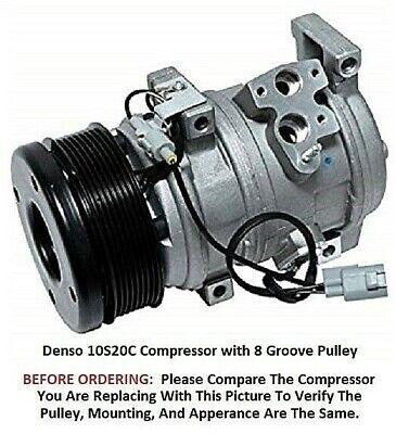 Toyota Tundra  4.6L 5.7L  2007-2017  OEM Denso 10S20C  8 Groove AC Compressor