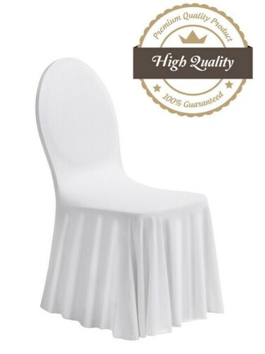 Stretchhusse Stuhlhussen Stuhlüberzug Stuhlhusse Stuhlbezug Hussen Premium Weiß