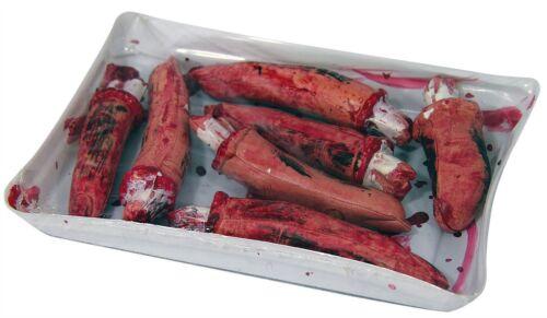BLOODY dita in vassoio Halloween decorazione//di scena costume