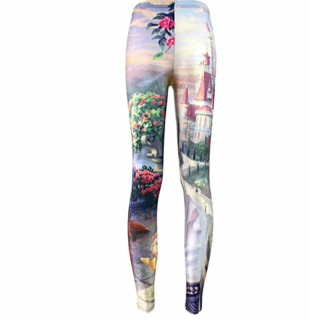 Beauty and the Beast Tale As Old As Time Princess Belle Disney Print Leggings
