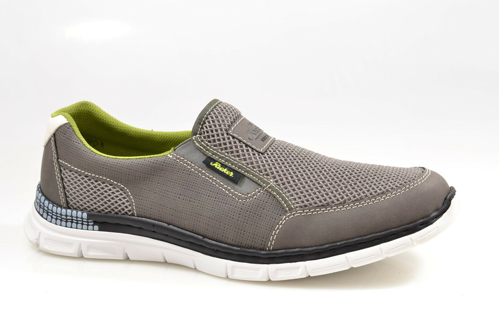Rieker Herren Sneaker Slipper Halbschuhe grau Gr. 41-46 Neu B4870-45