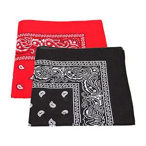 2x Paisley Pattern Bandana Head   Neck Scarf (Black   Red)   eBay 08347837927