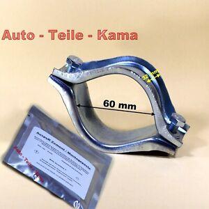 Auspuff-Schelle-Set-Klemmschelle-fuer-Volvo-Abgasanlagen-mit-Montagepaste-60-mm