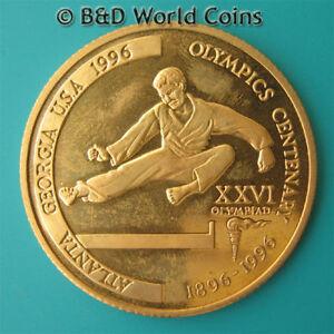 TANZANIA-1996-2000-SHILINGI-PROOF-ERROR-GILT-TAEKWONDO-MINT-25-COINS-REEDED-EDGE