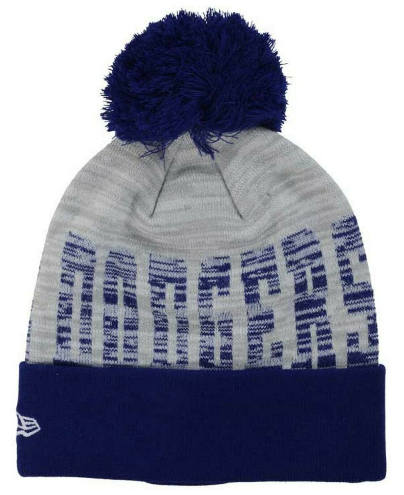 Blue-gray Dodgers beanie with toque word fuzz