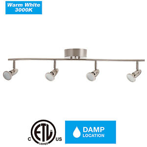 Details About 4 Head Pendant Lights Light Track Lighting Ceiling Wall Interior Lamp Fixture