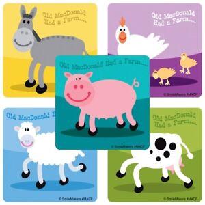 Details about Farm Animal Stickers x 5 - Old MacDonald Had a Farm - Teacher  - Sheep Pig Horse