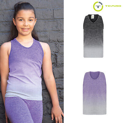 tl322 Sports Top 100% High Quality Materials Tombo Kids Seamless Activewear Fade-out Vest