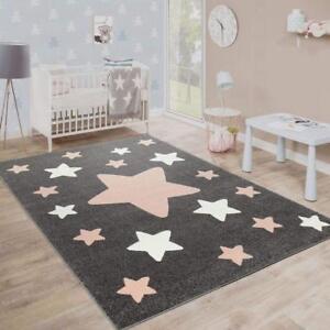 Détails Sur Kids Star Tapis Gris Rose Blanc Enfants Tapis De Jeu Petit Grand Baby Nursery Tapis Afficher Le Titre D Origine