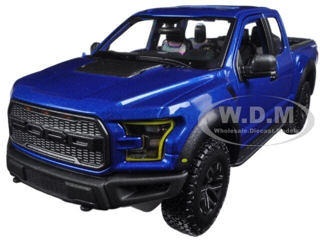 2017 FORD RAPTOR PICKUP TRUCK BLUE 1/24 DIECAST CAR MODEL BY MAISTO 31266