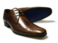 Red Tape Louth Men's Brown Leather Brogue Shoes UK 7-12 RRP £45 Free UK P&P!