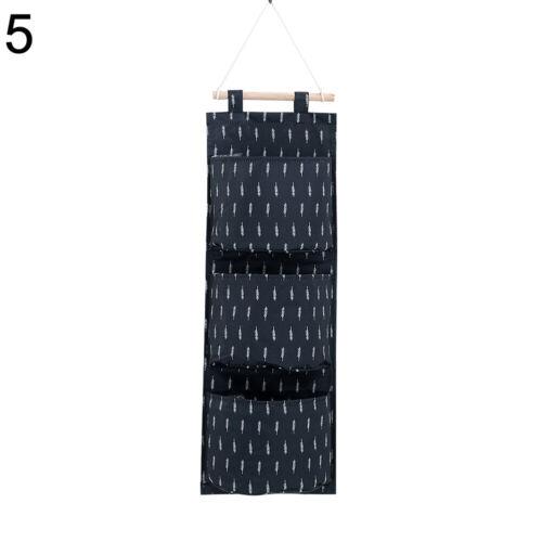 JW/_ 3 Pockets Wall Door Closet Hanging Storage Organizer Pocket Pouch Bag Call