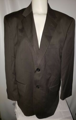 Men's Joseph & Feiss Gray Pinstrip Suit Jacket Bla
