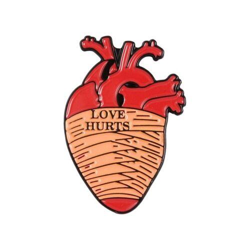 19style Anatomical Heart Enamel Pins Medical Anatomy Brooch Heart Neurology