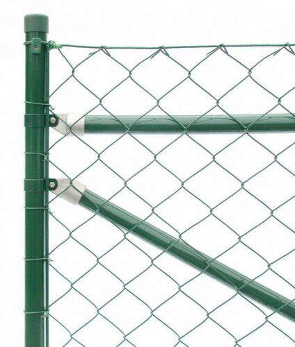 Maschendrahtzaun Höhe 125 cm x 25 m lang komplett-Set grün Drahtzaun Gartenzäune