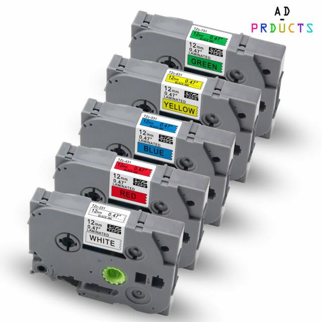 Drucke 3x Ersatz kompatible Schriftbänder für Brother TZE721 9mm x 8m Kassetten