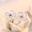 925-Silver-Crystal-Cherry-Blossoms-Flower-Ear-Stud-Earrings-For-Women-Girl-58 thumbnail 2