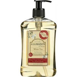 A LA MAISON DE PROVENCE: Hand & Body Liquid Soap White Tea, 16.9 Oz
