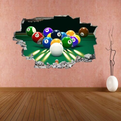 Billards Table Balls Cue Sports Wall Sticker Mural Decal Home Office Decor CG2