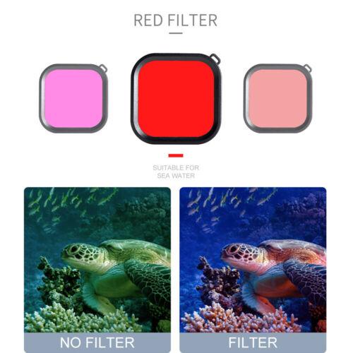 Filters Kit Red Magenta Snorkel Lens Color Filter For Go-Pro HERO 8 Camera