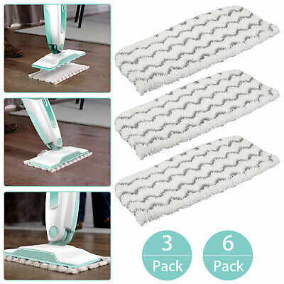 Amyehouse 12 Packs Dirt Grip Microfiber Pads Replacement for Shark Steam Mop S1000 S1000A S1000C S1000WM S1001C Vacuum Cleaners