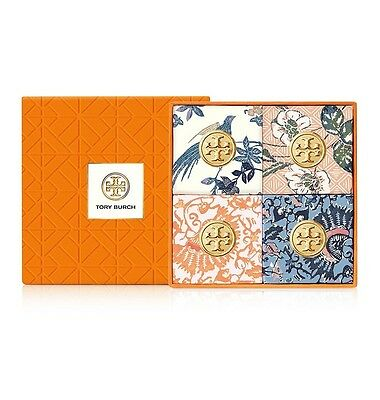 NEW IN BOX Tory Burch Fragrance Bath Soap 4 pcs Gift Set 2.8 oz/ 79.4 g each