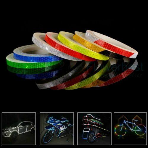 8M Reflective Stickers Hi Vis Viz Car Motorcycle Bike Safety DIY Reflector Tapes